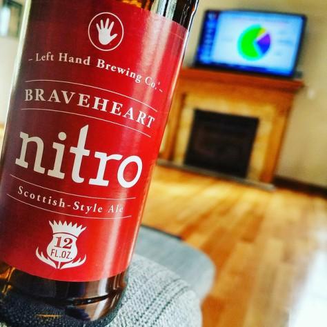 Обзор пива. Left Hand Braveheart Nitro.