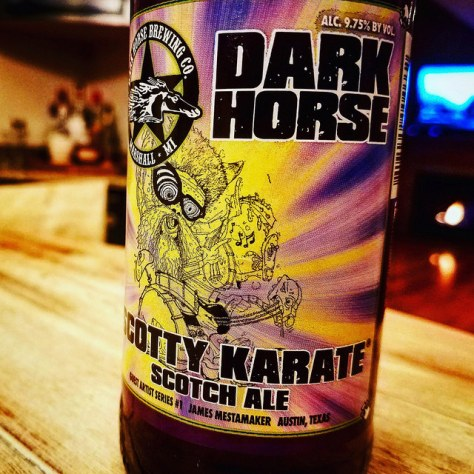 Обзор пива. Dark Horse Scotty Karate Scotch Ale.