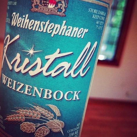 Обзор пива. Weihenstephaner Kristallweizenbock.