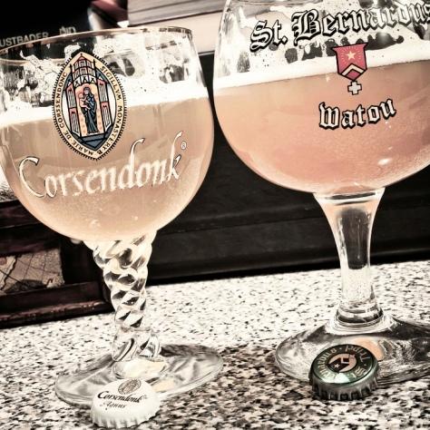 St. Bernardus Tripel vs Corsendonk Abbey Pale Ale.