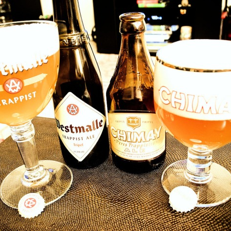 Westmalle Tripel vs Chimay Tripel.