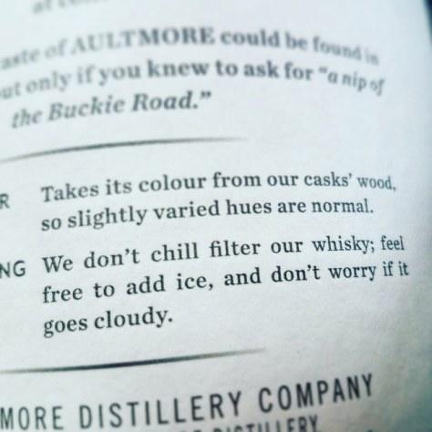 Нефильтрованный виски. Un-chillfiltered whisky.