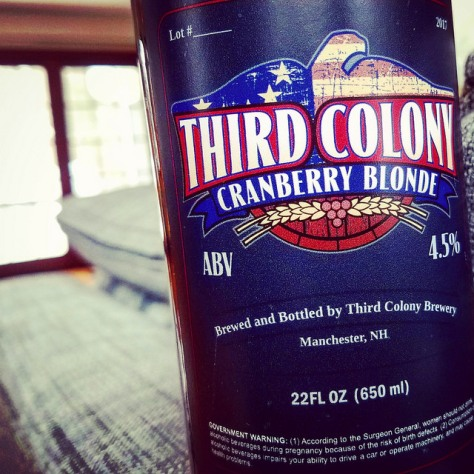 Обзор пива. Third Colony Cranberry Blonde.