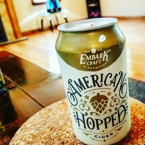 Обзор крепкого сидра. Embark American Hopped Cider.