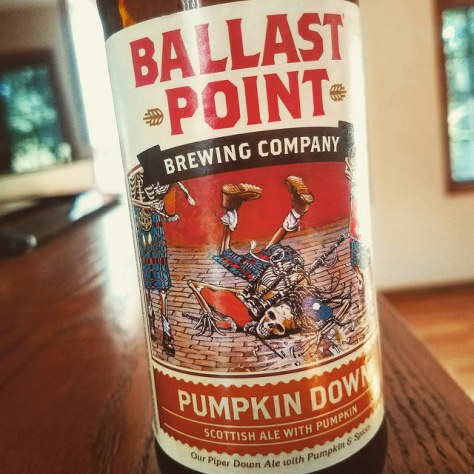 Обзор пива. Ballast Point Pumpkin Down.