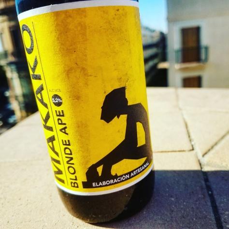 Обзор пива. Cerveceros Portuenses Makako Blonde Ape.