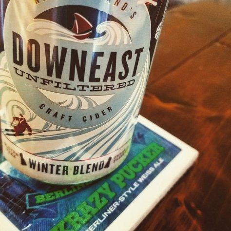 Обзор крепкого сидра. Downeast Cider Winter Blend.