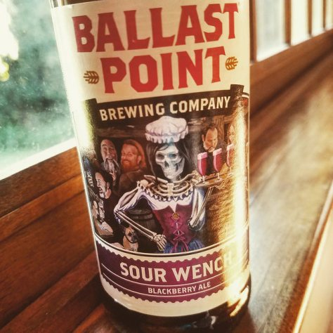 Обзор пива. Ballast Point Sour Wench Blackberry Ale.