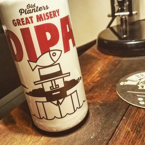 Обзор пива. Old Planters Great Misery DIPA.