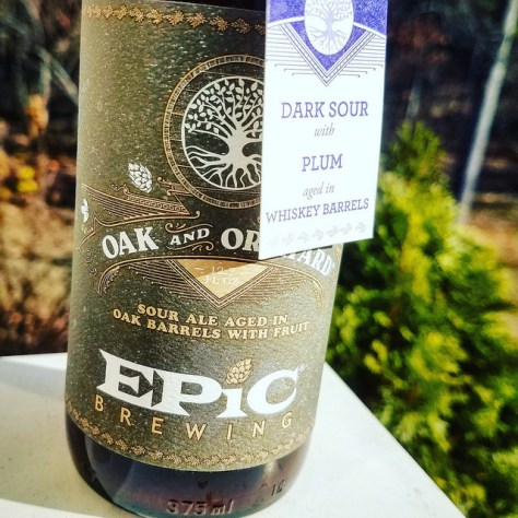 Обзор пива. Epic Oak And Orchard Dark Sour With Plum.