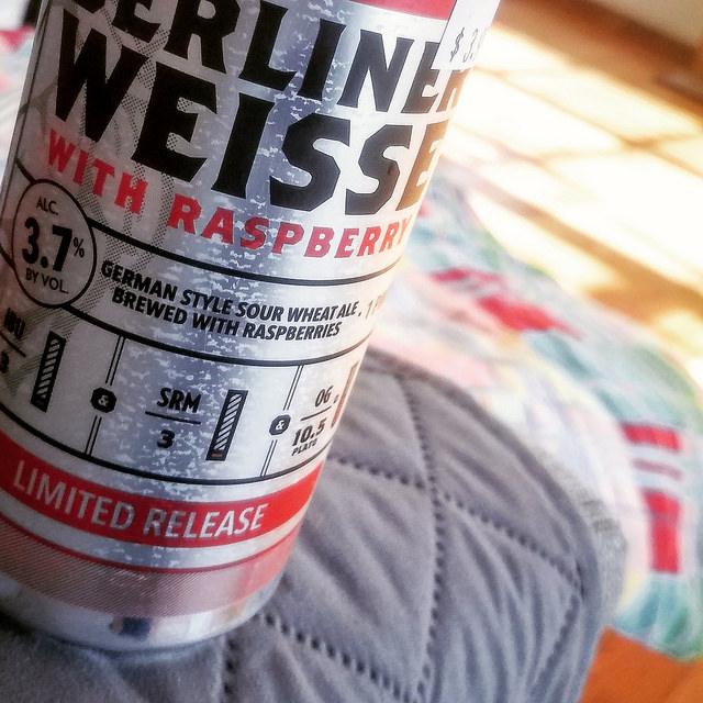 Обзор пива. Stoneface Berliner Weisse With Raspberry.