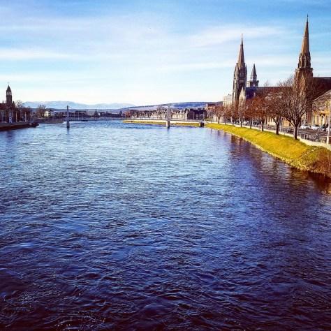 Регионы Шотландии. Столица Highlands. Город Inverness.