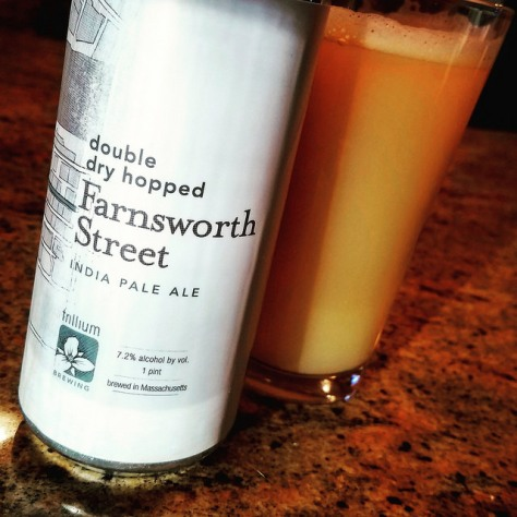 Обзор пива. Trillium Farnsworth Street IPA.