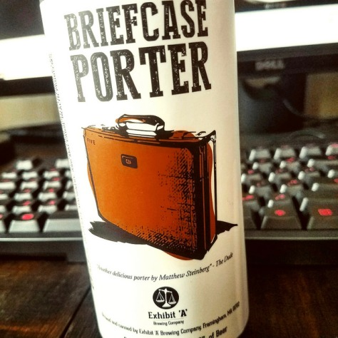Обзор пива. Exhibit A Briefcase Porter.