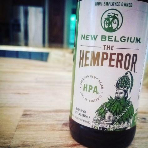 Обзор пива. New Belgium The Hemperor. Травянистое пиво с марихуаной.