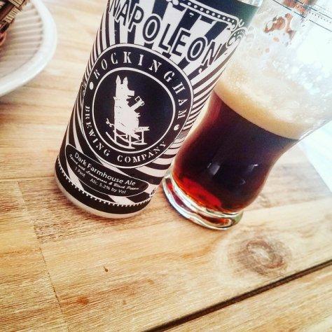 Обзор пива. Rockingham Napoleon Dark Farmhouse Ale.