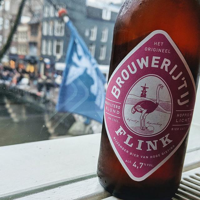 Обзор пива. 't IJ Flink (red label).