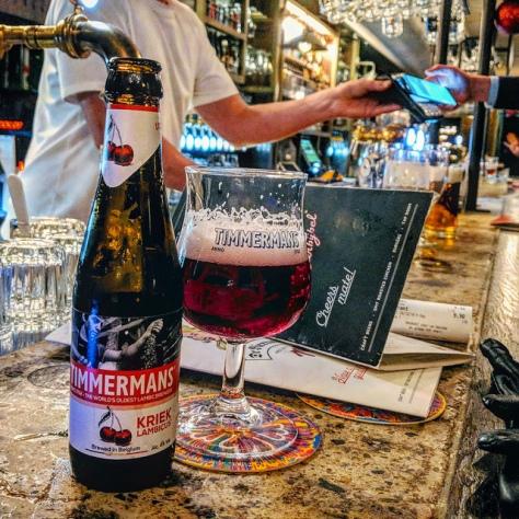 Обзор пива. Timmermans-John Martin Kriek Lambic.