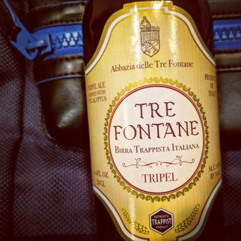 Обзор траппистского пива. Tre Fontane Tripel.