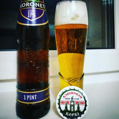 Обзор пива. Lidskoe Koronet Light IPA.