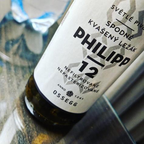 Обзор пива. Ossegg Praha 12 Philipp Světlý ležák.