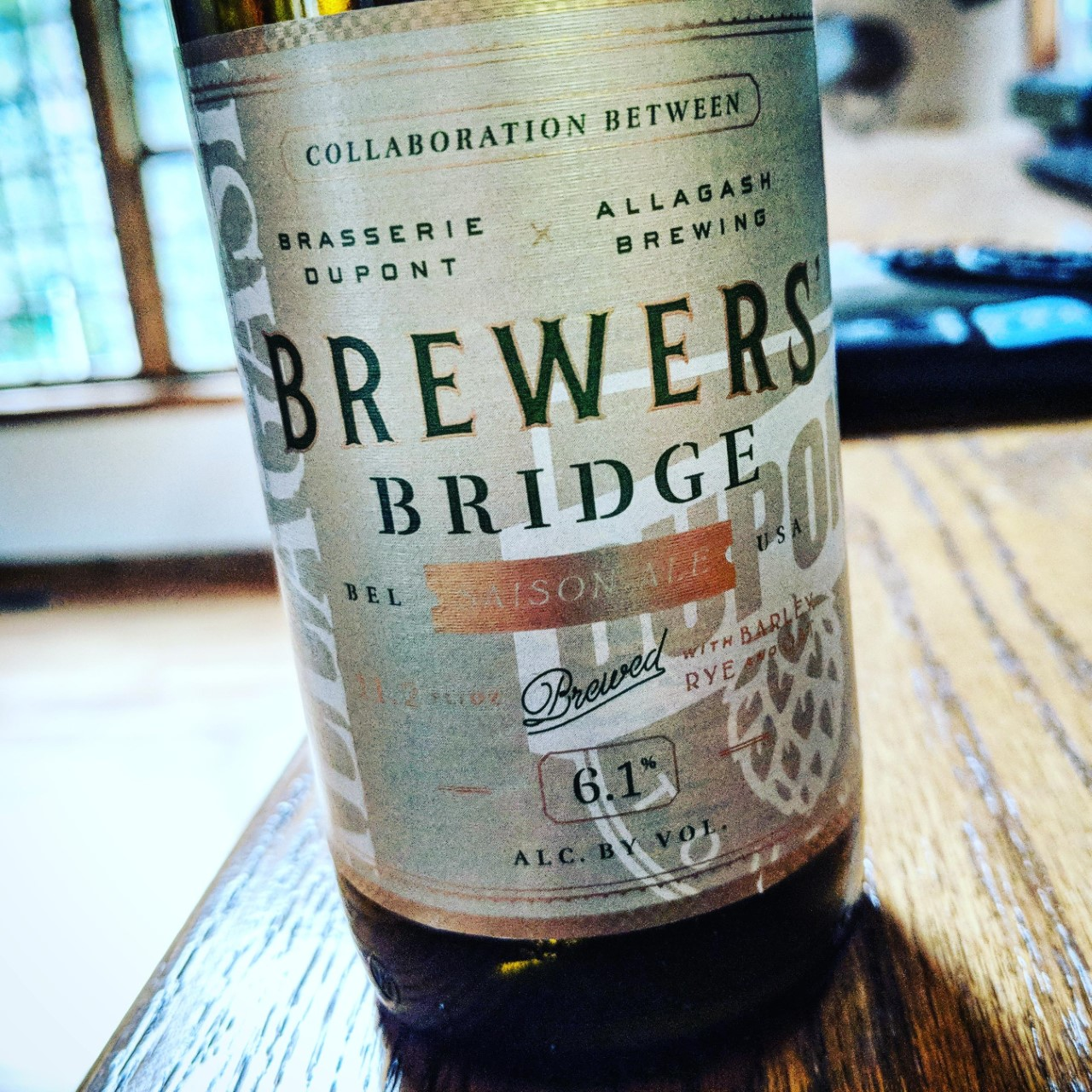 Dupont / Allagash Brewers' Bridge. [Обзор].